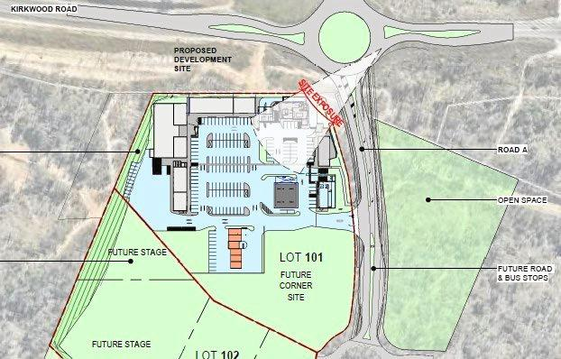 APPROVED: The proposed site of the Kirkwood Rd Service station
