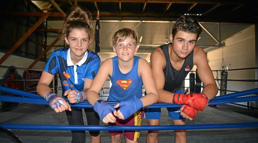 CITY FIGHTS: Warwick Boxing Club members Felicity Parsons, Kye Lawler and Jake Wyllie will fight at Pine Rivers in early June.