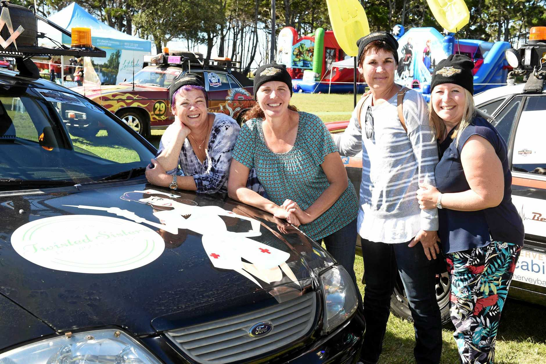 Dunga Derby car # 24 Twisted Sisters, Annemaree Nichol, Heather Crompton, Dianne Francis and Rachael Walker.