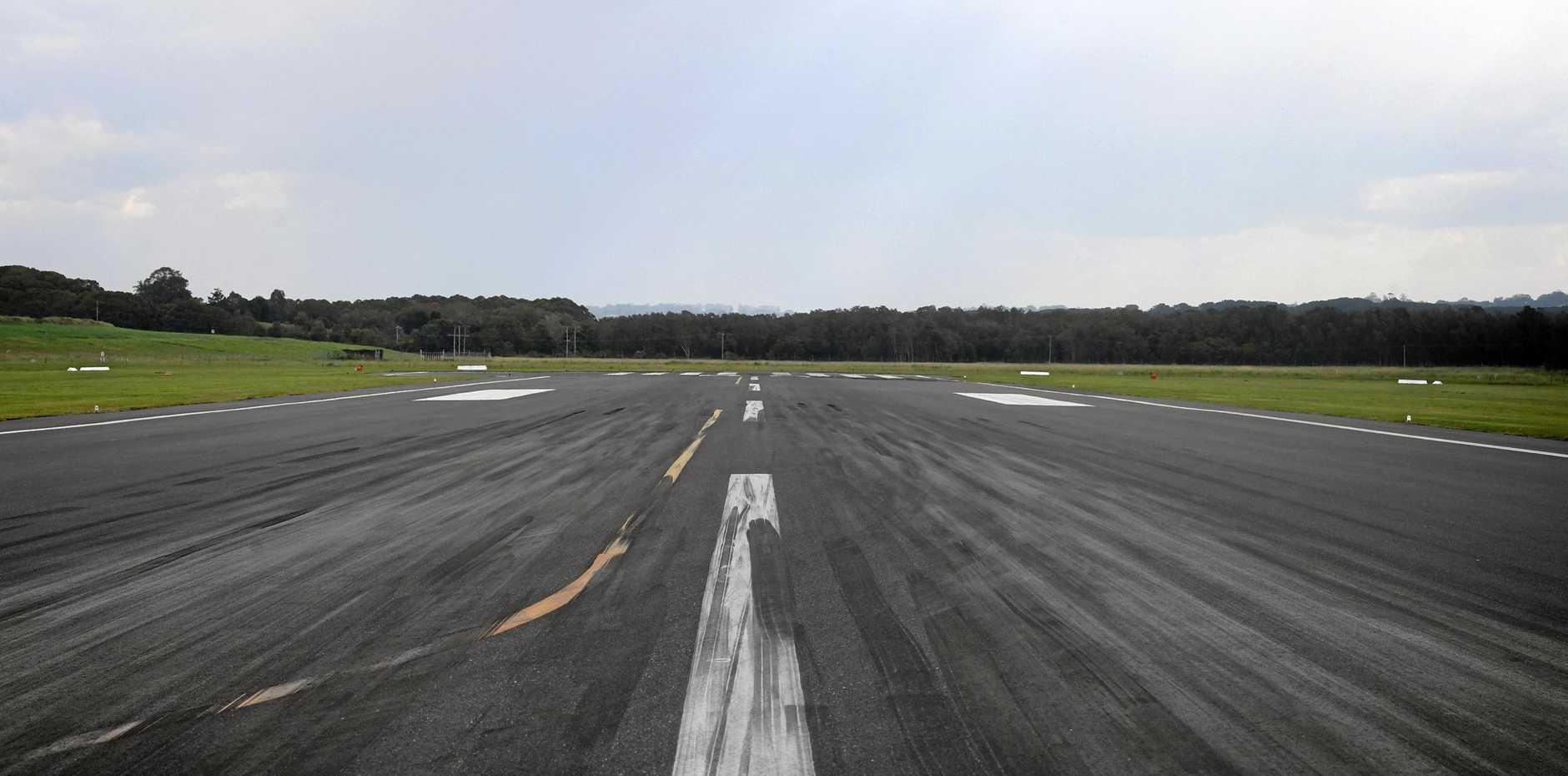 The runway at Ballina Byron Gateway Airport.