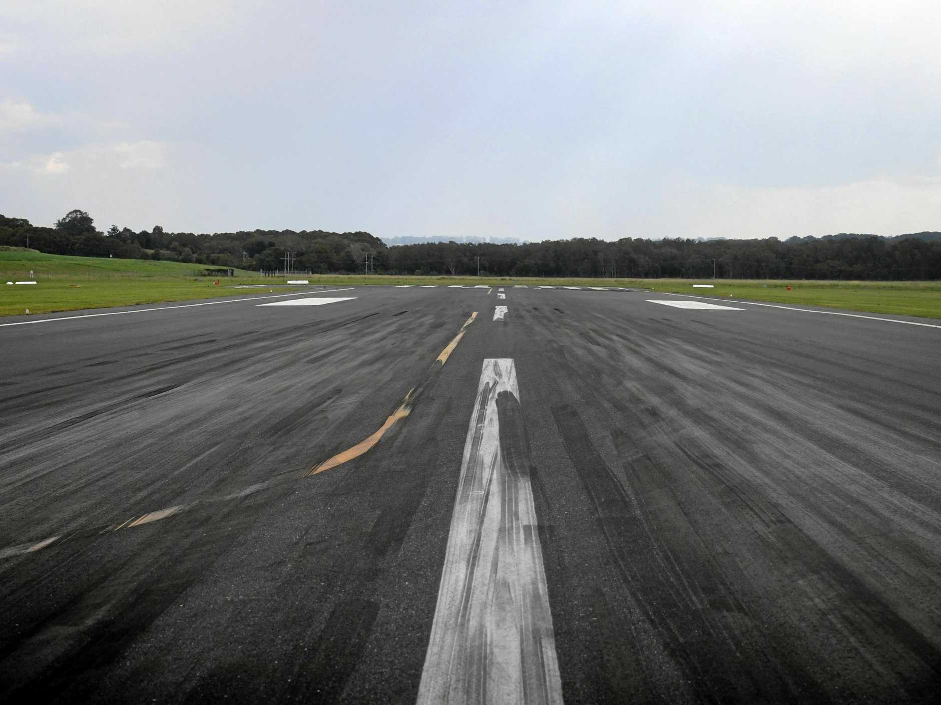 The runway at Ballina Byron Gateway Airport.