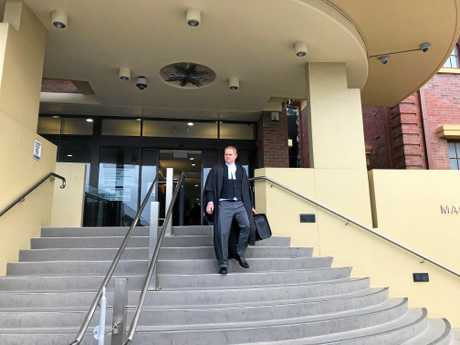 Mackay Barrister Scott McLennan leaves court after presenting the RSPCA in the case against Andrew Coleman, who bashed a dog in a sickening attack in North Mackay.