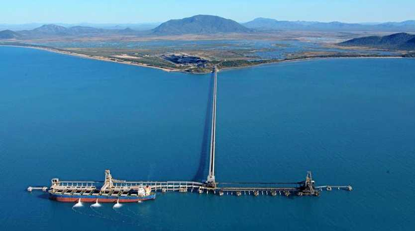 The Abbot Point coal terminal.