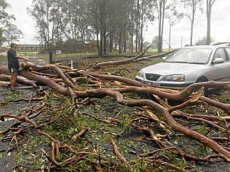 Storm damage.