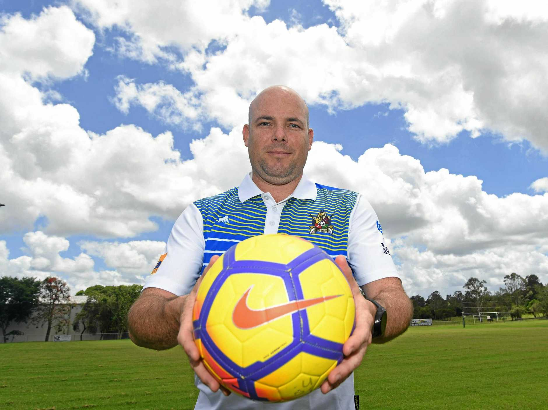 Football - Football Gympie president and women's reserve grade coach Joel Albion.