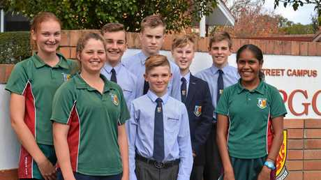 Millie Groves, Jacolene De Jager, Jesse Bohm, Lachlan Naughten, Tom Brasch, Alex Naughton, Bryce Zerner and Bryoni Marshall are ready to welcome Samuel.