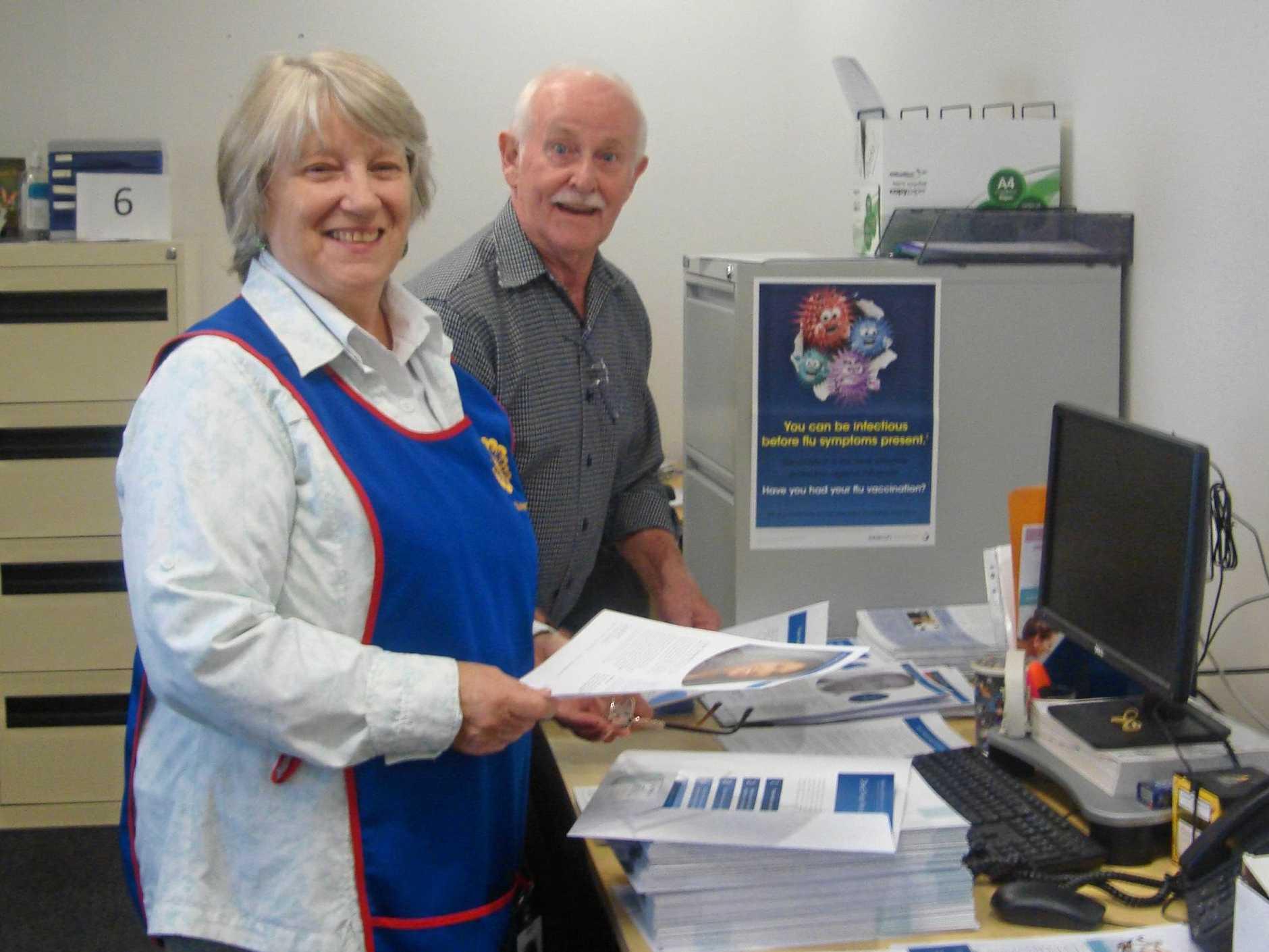 Volunteers at Brisbane Waters Private Hospital.
