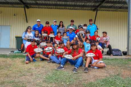TALENT SEARCH: Young indigenous players at the trial for the Rugby Australia High Performance team in Walgett Brewarrina earlier this year.