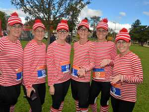There were colours and runners galore in final Pentath event
