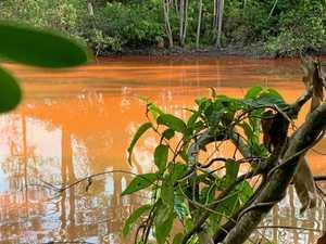 Orange not a good look for Woolgoolga Lake