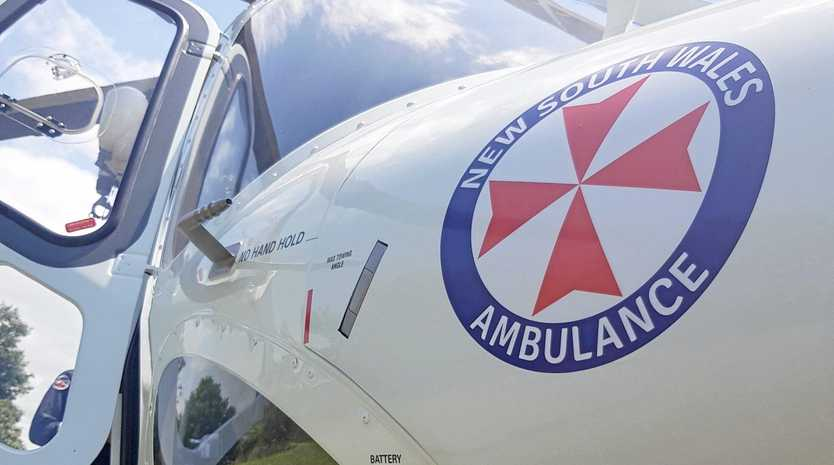CHOPPER TRANSFER: Westpac chopper tasked to transport seriously injured woman, 75, to hospital.