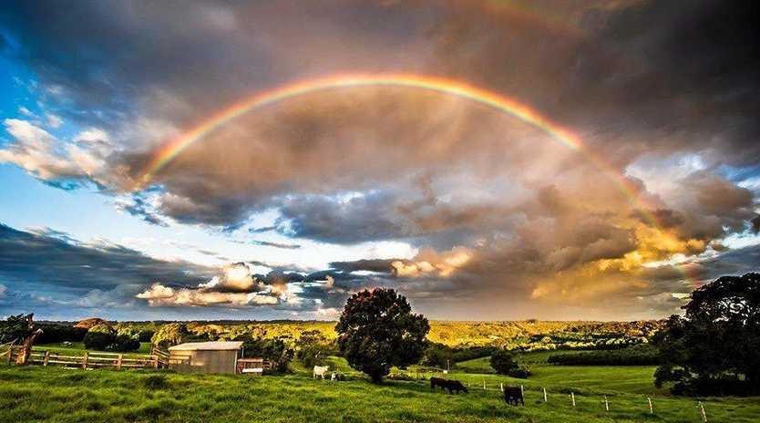 Rainbow in my backyard at Tregeagle last week.