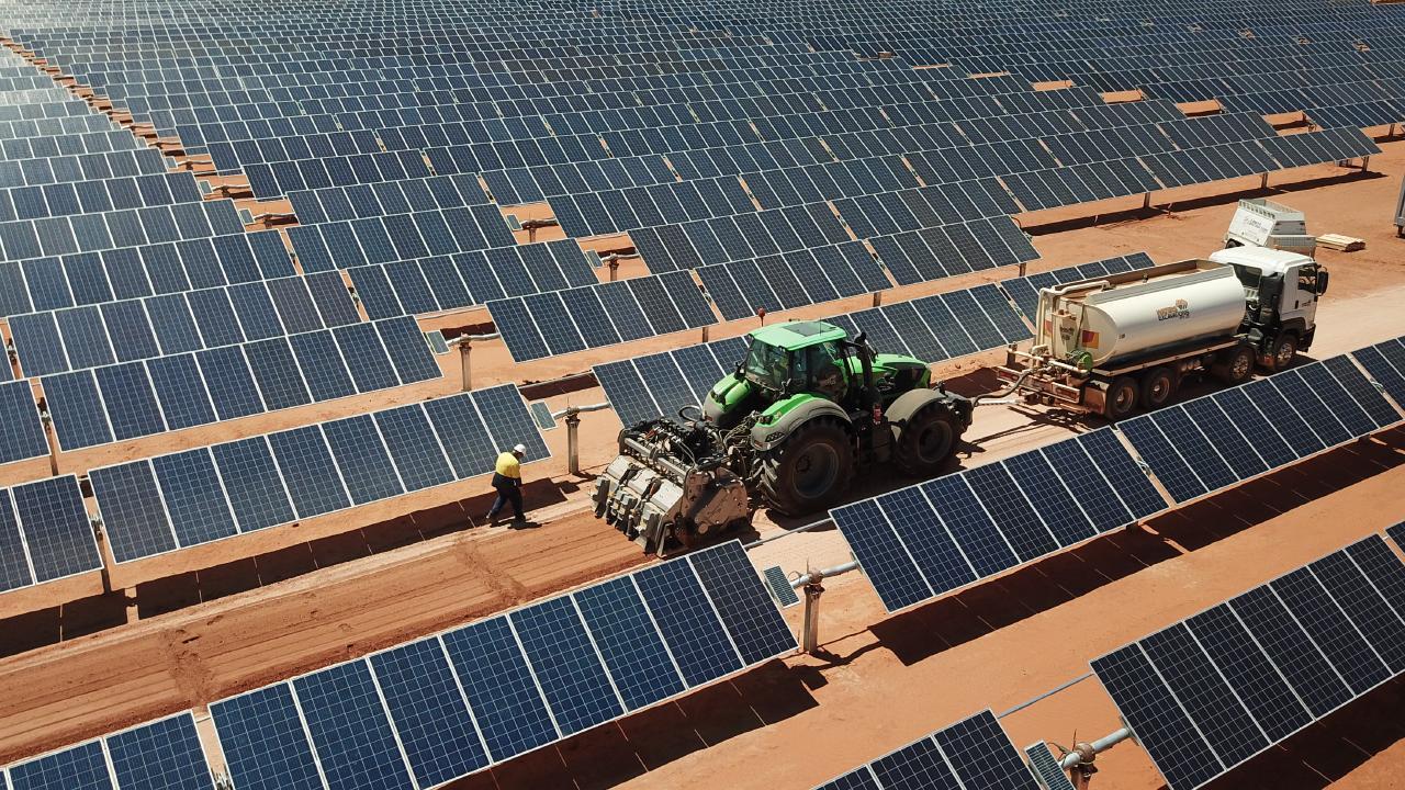 A solar farm