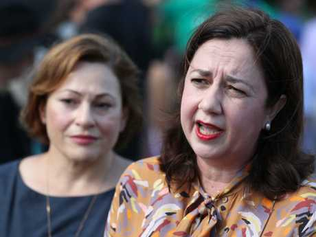Premier Anastasia Palaszczuk and Jackie Trad visiting Paniyiri in Brisbane. Picture: Peter Wallis