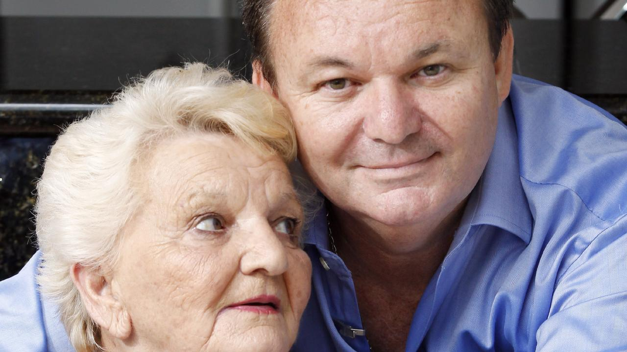 Peter Foster with his mother Louise.