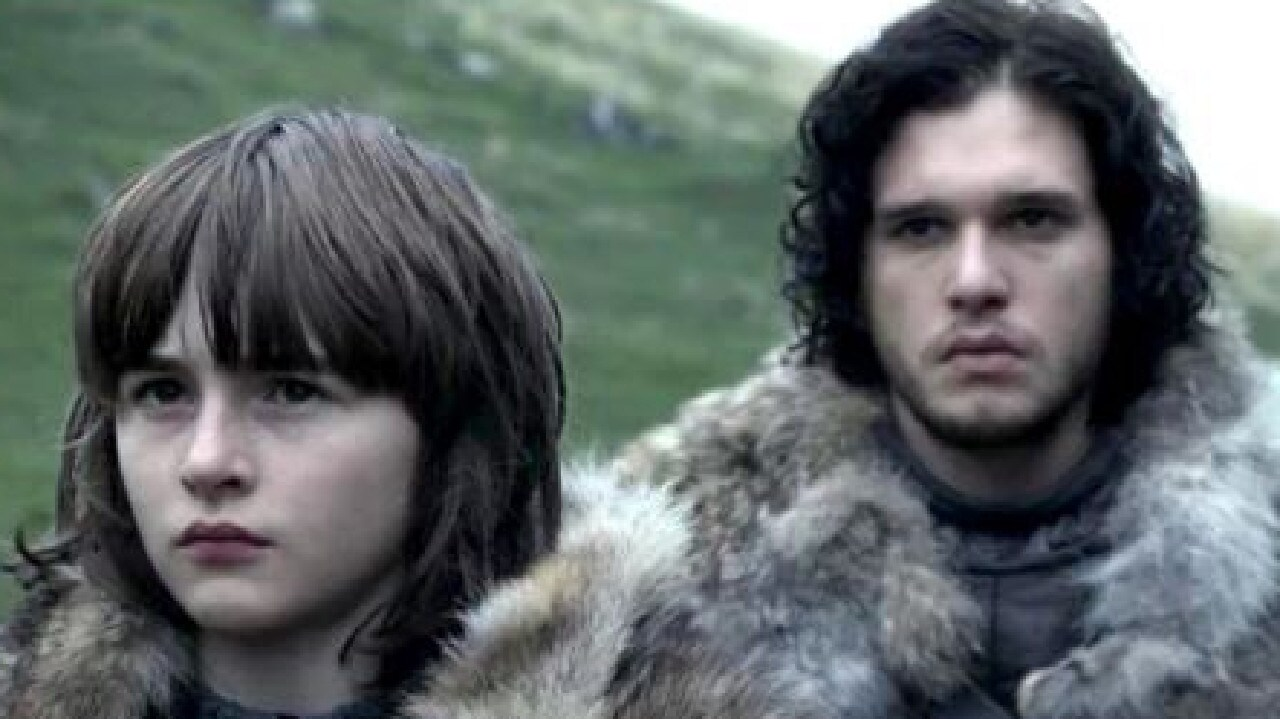 Bran (Isaac Hempstead Wright) and Jon Snow (Kit Harington) in Game of Thrones. Picture: HBO
