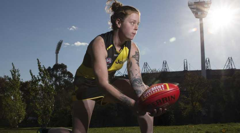Tayla Stayl is determined to make the most of her chance in the AFLW. Picture: Michael Klein