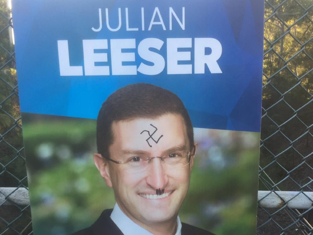 Liberal Member for Berowra, Julian Leeser MP, had his posters in Normanhurst defaced with Nazi symbols.