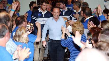 Tony Abbott on election night. Picture: Tim Hunter.