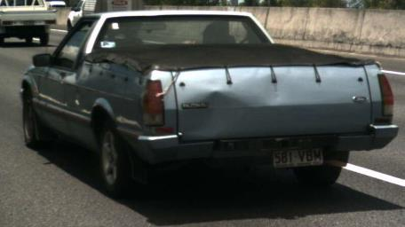 A blue Ford Falcon ute, with Qld registration 581VBM, was stolen from a Granite Belt Dr property at Thulimbah between 8am on April 20, and 6pm on May 19.