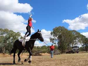 Kamilaroi Equestrian horse vaulting at the 2019 Miles