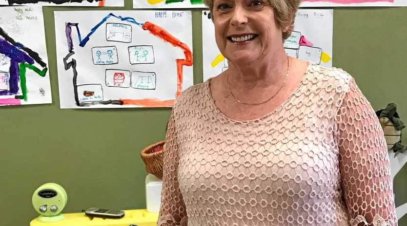 Director of Mackay Women's Services Dr Anne Butcher in one of the children's counselling rooms at the Mackay Women's Centre.