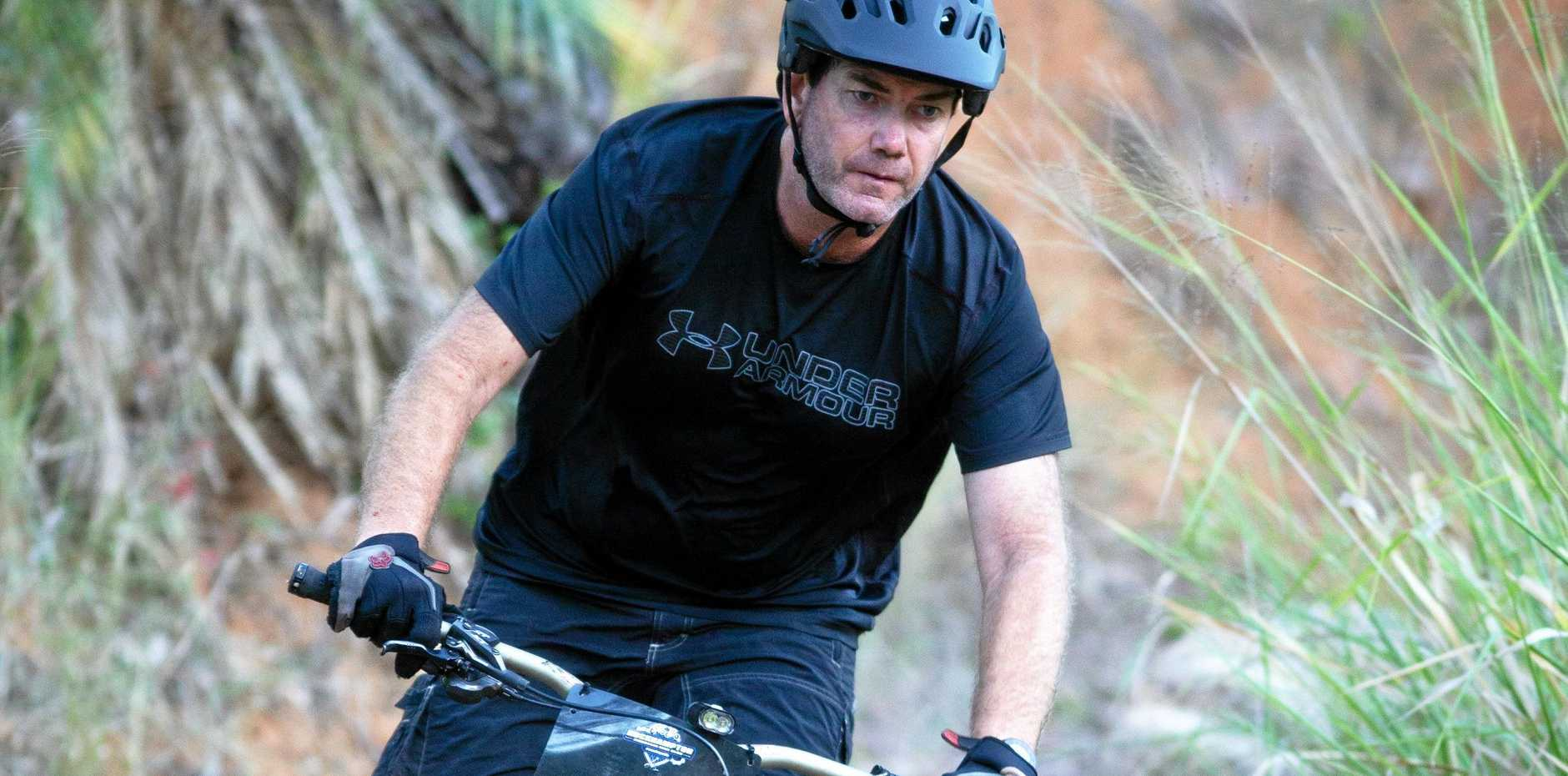 CHALLENGING COURSE: Shane Perriman was among the 51 riders who took on the trails at First Turkey on Saturday.