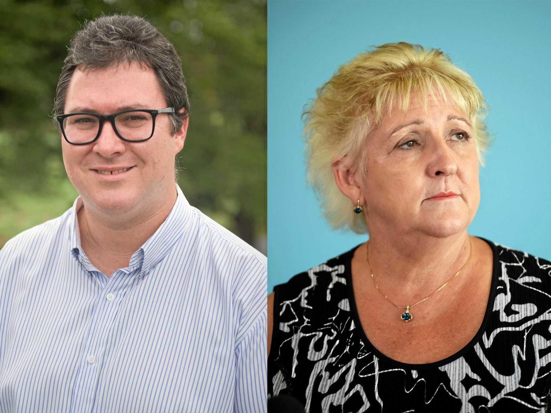 Dawson MP George Christensen and Capricornia MP Michelle Landry.