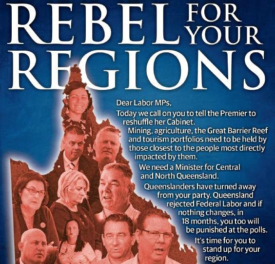 MPs called on to Rebel for the  Regions.