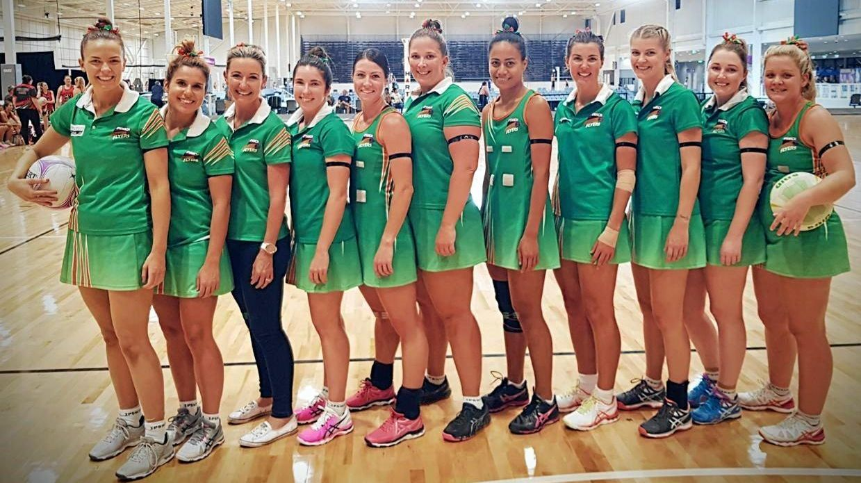 The 2019 Ipswich Flyers SEQ Cup netball team.
