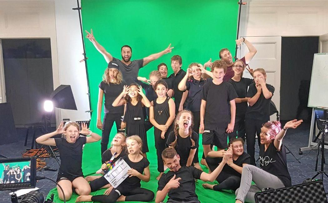 YOUNG ACTORS: The Playing with Greenscreens acting workshop held at Gayndah in May.