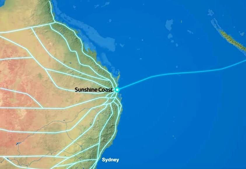 A submarine broadband cable links the Sunshine Coast to the world.
