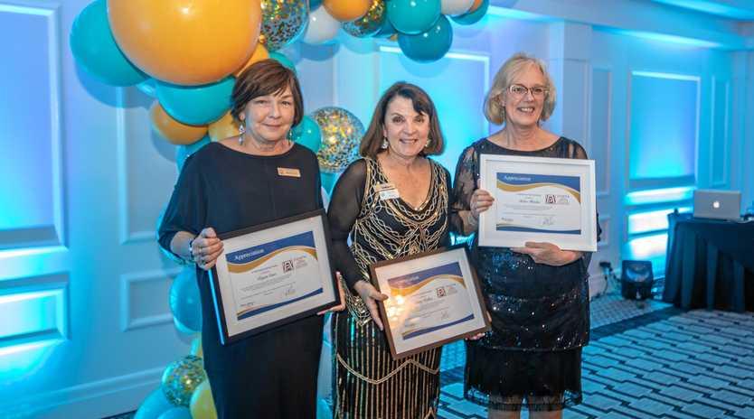 Charter Members Regan Cass, Kathy Walker, Helen Fletcher.