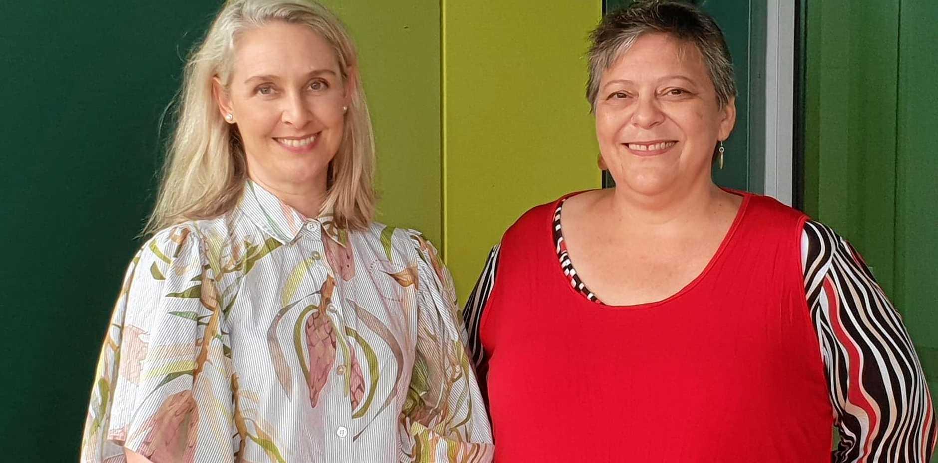 NEW ENERGY: Mackay Hospital and Health Board members  Elissa Hatherly and Adrienne Barnett.