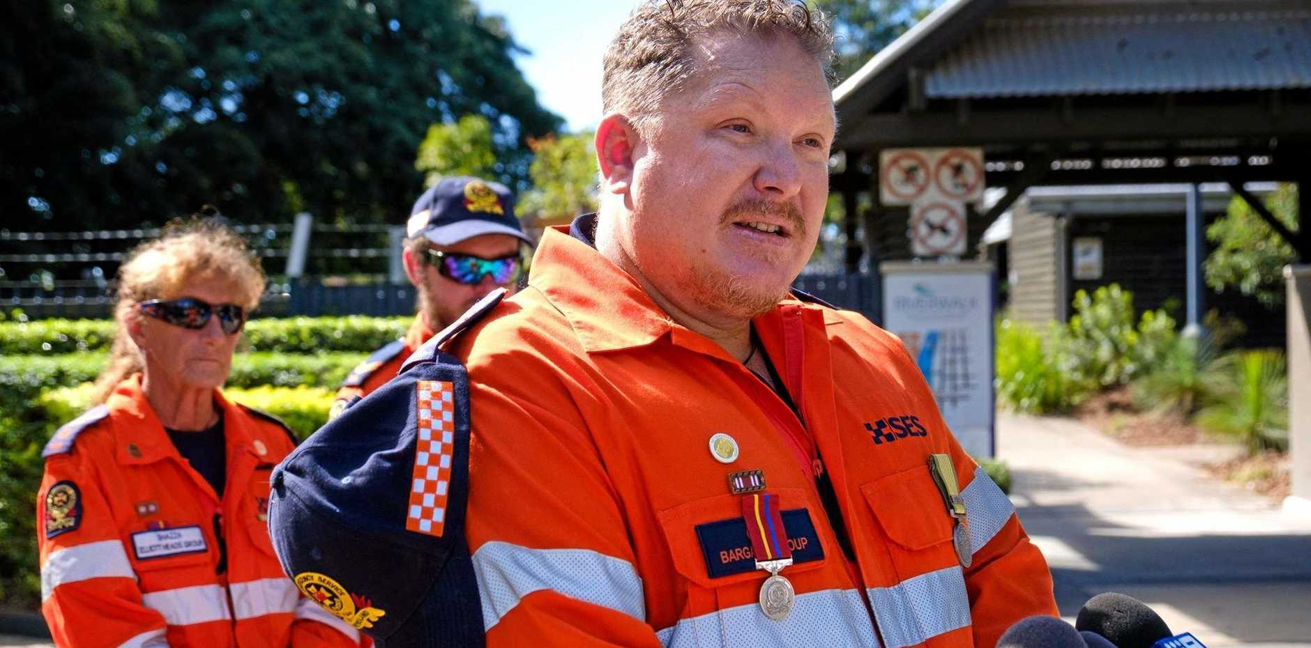 BRAVE TALE: Former SES group leader Cameron Sage tells of the harrowing rescue he and his team attended. Sharon Kilby and Blake Hyde were also involved in the rescue.