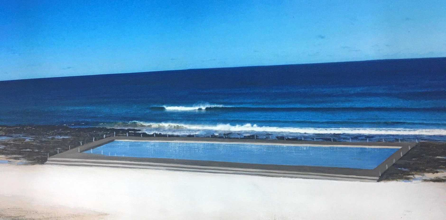 An earlier artist's impression of the proposed Ballina Ocean Pool.