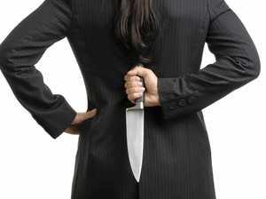 Woman pressed butcher's knife against partner's throat