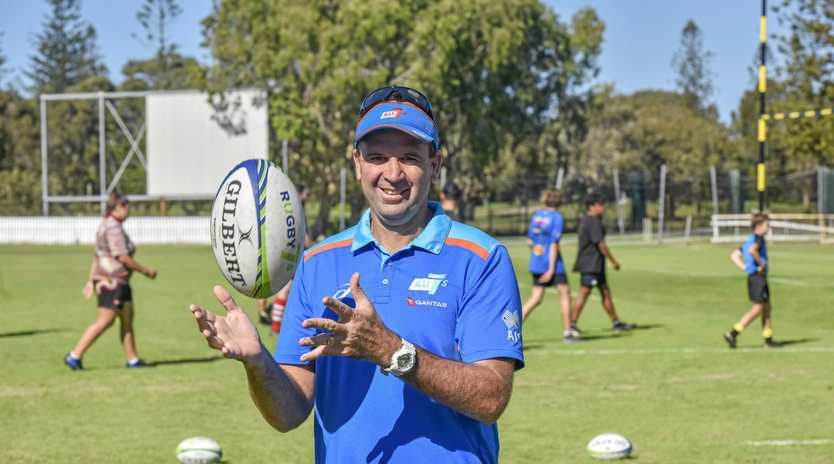 ON THE LOOKOUT: Rugby Australia Dream Big Time program manager Jarred Hodges at Yamba Oval.