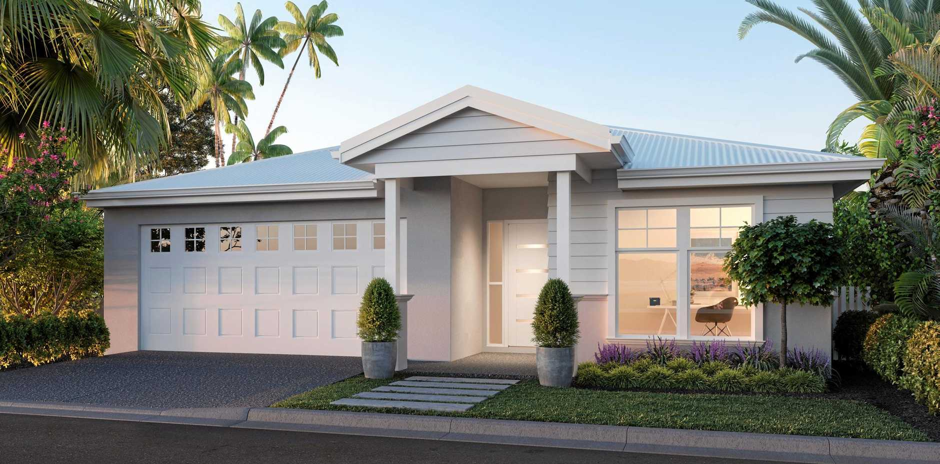 APPROVED: An artist's impression of one of the homes as part of the Bargara Waters development. Pictured below: Andre Hayek.