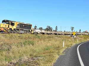 Truck and train crash at Toolburra