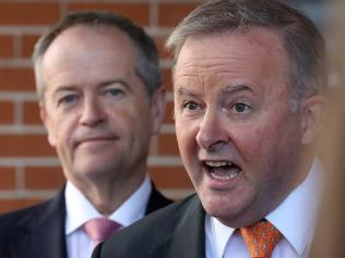 Bill Shorten and Anthony Albanese