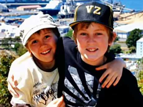 Brothers Stuart and Thomas as children. Picture: The Project/YouTube
