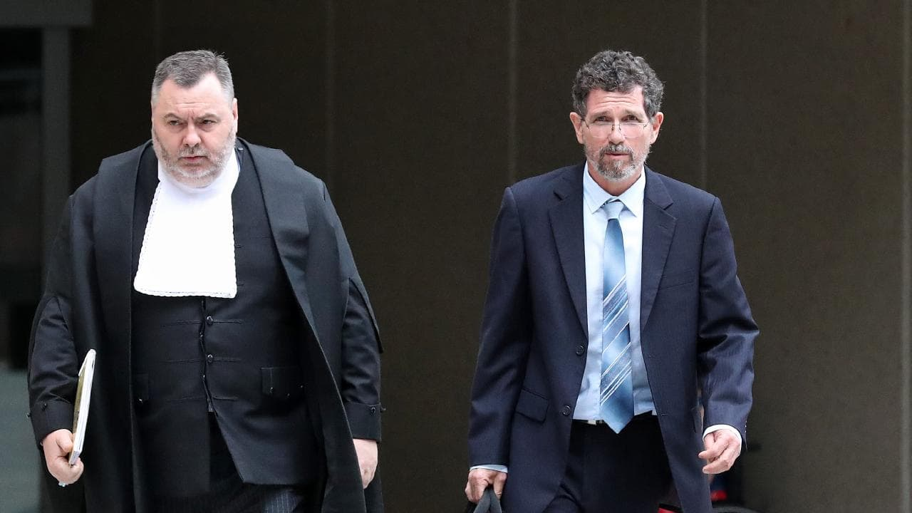 Stuart Wood QC (left) has taken on high-profile unfair dismissal cases, including representing climate scientist Peter Ridd (right) in the Federal Court in Brisbane.