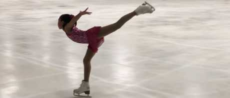 Chloe, 11 started skating about four years ago and now competes at State level.