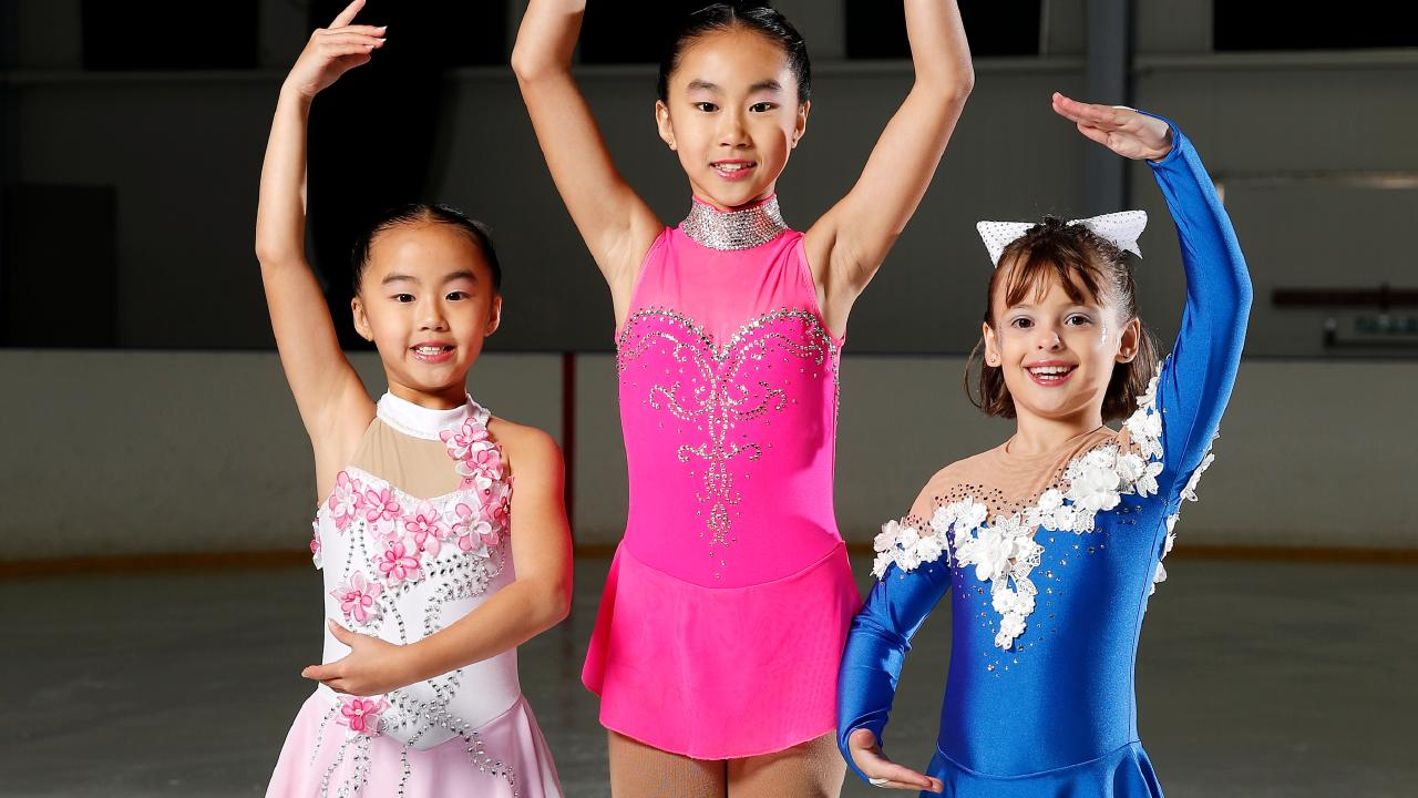 Skaters Kaitlin Teo, Chloe Teo and Isabella Simila are training hard for their Disney on Ice performance next month.