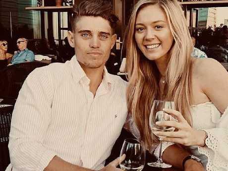 Australian cricketer Alex Hepburn and his girlfriend Lucy Street. Picture: Supplied