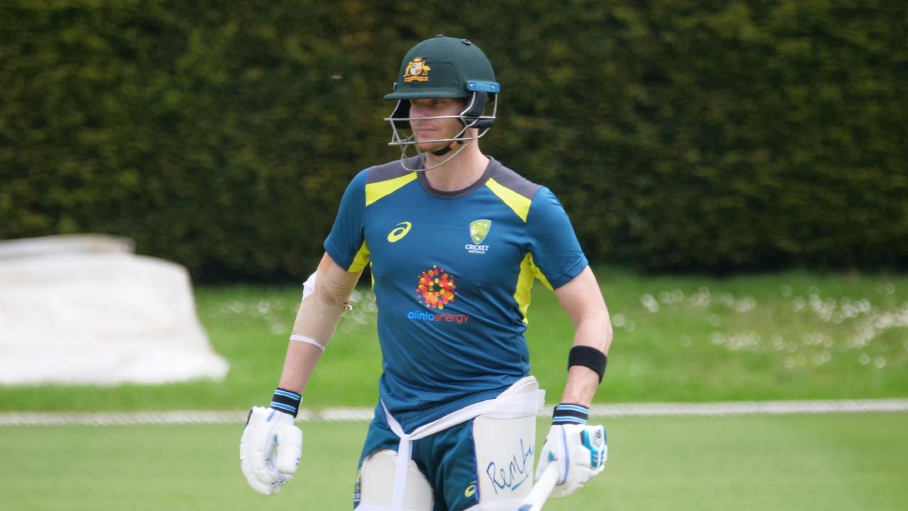 Steve Smith at an Australian training session.