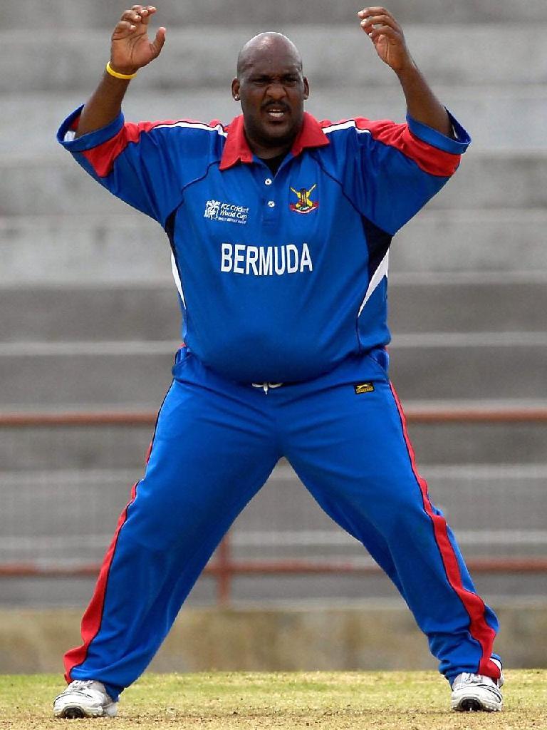 Bermuda's 130kg spinner, Dwayne Leverock.
