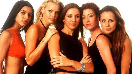 The original Bardot line-up: Chantelle Barry, Sophie Monk, Sally Polihronas, Katie Underwood and Belinda Chapple.