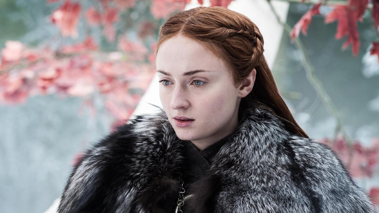 Sophie Turner as Sansa Stark in Game of Thrones.